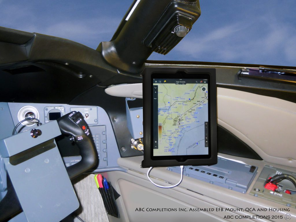 Cockpit iPad Class II EFB Installation on a Global Express Aircraft