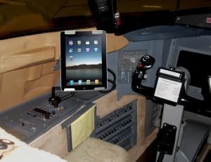 Class II EFB iPad in Challenger 604