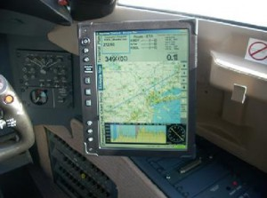 CMC Electronics 10.4 Display shown in a Global Express