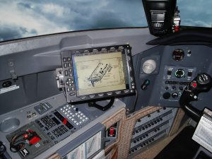CMC Electronic Flight Bag installed in a Challenger 601
